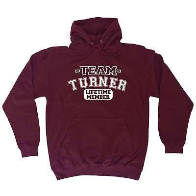 Bello Membro Del Team Turner A Vita Regali Cognome Famiglia Divertente Felpa Con Cappuccio-