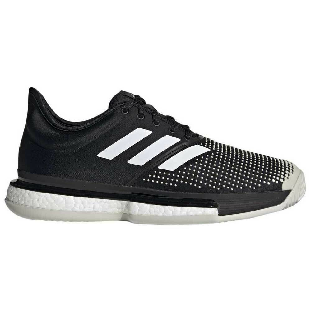 Adidas solecourt Boost Clay zapato de tenis para caballeros (negro blancoo)