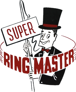 SUPER RING MASTER STICKERS x 2 - CONTROL LINE PLANE - DECAL