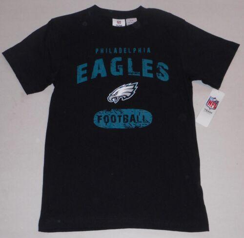 PHILADELPHIA EAGLES BOYS YOUTH NFL TEAM SHORT SLEEVE T SHIRT L XL NWT BLACK
