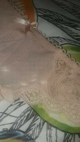 Details about  /VS DREAM ANGELS scalloped lace thong Panty  NEW medium blush shine