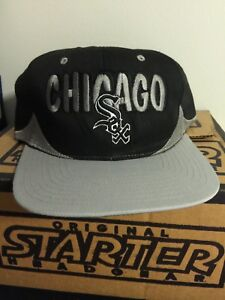 8c2811c0b3e Image is loading Vintage-Chicago-White-Sox-Snapback-Hat-MLB-Throwback-