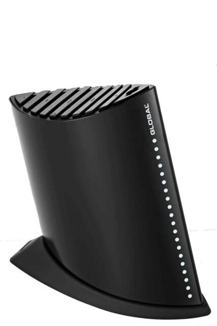 Global Black 9 Slot Ship Shape Knife Block RRP $149.95 SAVE