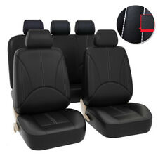 9pcs Pu Leather Car Seat Cover Breathable Protector Cushion Universal Full Set Fits 2006 Civic