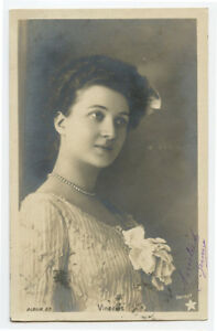 c 1902 Pretty YOUNG LADY Beauty undivided back photo postcard