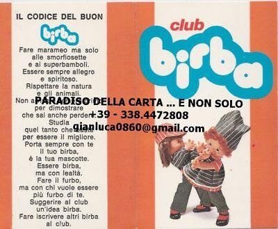 Simbolo Del Marchio Tessera Club Birba, Industria Giocattoli Migliorati (cm. 12 X 9,5 - Anno 1976)