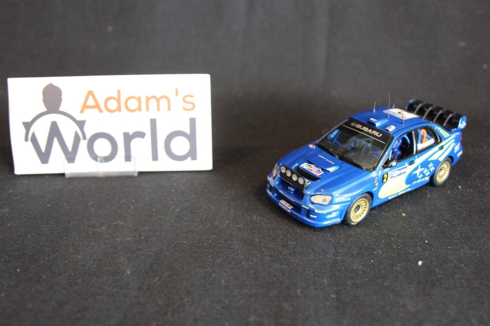 IXO Subaru Impreza S10 WRC '04 1 43 Hirvonen   Lehtinen (JvdM) + fig NR