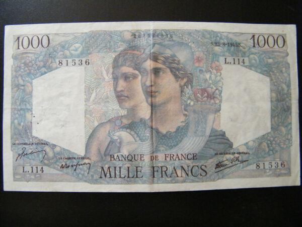 1000 Francs Minerve / Hercule