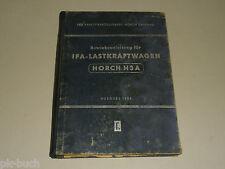 Betriebsanleitung Handbuch VEB IFA LKW Zwickau Horch H3A H 3 A, Stand 07/1954