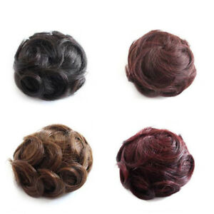Bun Braid Piece Wave Curly Drawstring Clip In Hair Updo Cover Hair Extension