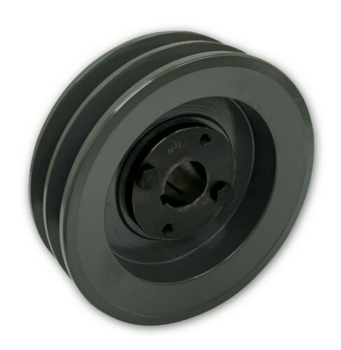"""TWO GROOVE FOR B BX 5L BELTS CAST IRON ELECTRIC MOTOR PULLEY SHEAVE 6.25/"""""""
