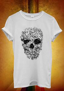 Crâne Fleur Rétro Floral Vintage Hommes Femmes Unisexe T Shirt Débardeur Débardeur 315-afficher Le Titre D'origine
