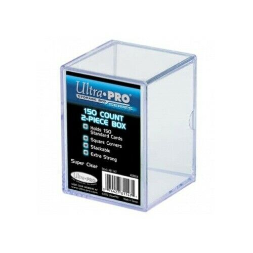 Ultra Pro 81147 Up 2-Piece Storage Box-For 150 Cards-Clear