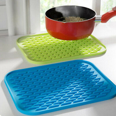 Silicone Kitchen Holder Mat Pot Tray Straightener Non-slip Heat Resistant Hot