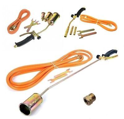 Gasbrenner Abflammgerät Brenner Löten Gaslötgerät Dachbrenner 3tlg Adapter
