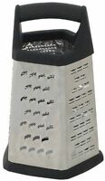 5 Sided Grater With Black Soft Grip Handle, Anti-slip Feet - Free Shipping