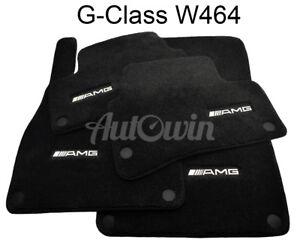 Floor-Mats-For-Mercedes-Benz-G-Class-W464-AMG-Emblem-Black-NEW-Premium-Carpets