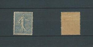 SEMEUSE-LIGNEE-1903-YT-132-25-c-bleu-TIMBRE-NEUF-trace-de-charniere