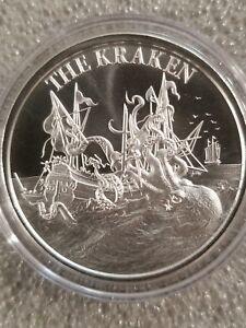 Kraken-1-oz-999-Silver-round-sea-monster-Folklore-new-high-relief-pirate-doom
