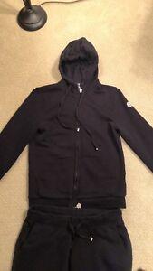 Activewear Tracksuits & Sets Original Athletic Moncler Women's 2pc Black Tracksuit Sweatsuit Jacket Pants Size S Carefully Selected Materials