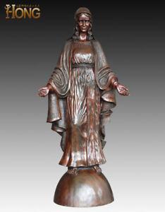 Art Deco Sculpture Madonna Mother of the God Virgin Maria Bronze Statue