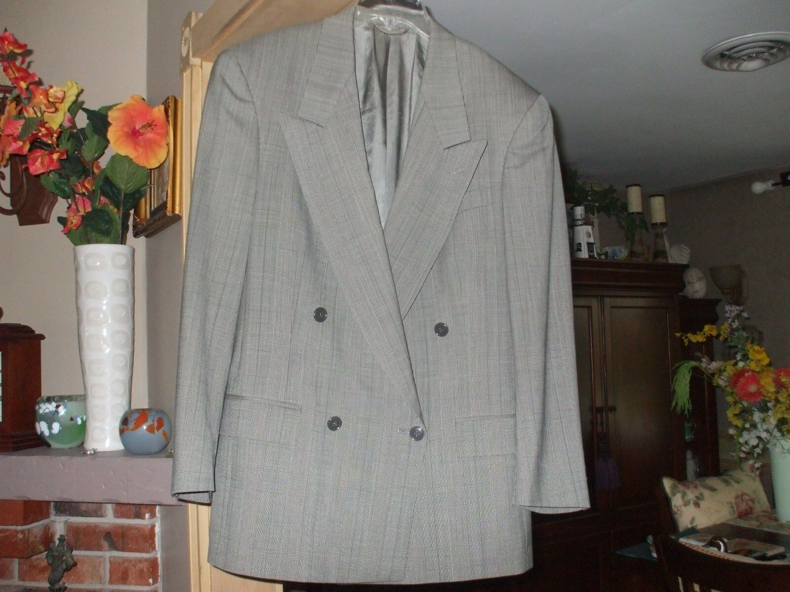 Christian Dior Monsieur double breast  Lined virgin wool padded shoulders blazer