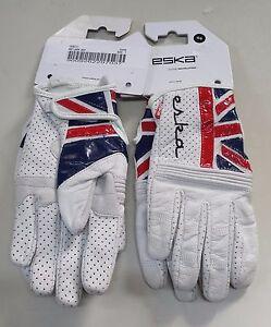 Guanti-moto-donna-ESKA-pelle-pregiata-bianchi-con-bandiera-UK
