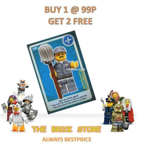 LEGO - #003 - JANITOR - CREATE THE WORLD TRADING CARD - BESTPRICE  + GIFT - NEW