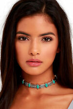 Silver turquoise Stones Choker Collar statement Necklace, 2017 necklace trend