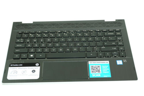 BF12-BE15 L18947-001 L12573-001 HP TOP COVER W// KEYBOARD PAVILION 14M-CD0001DX