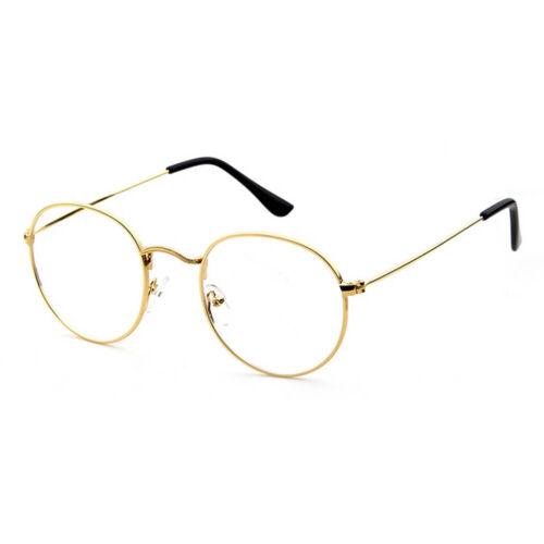 Ovale Ronde Unisexe Clair Lentille Verres 60 S Style Geek Nerd Lunettes