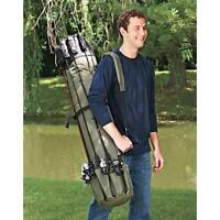 Heavy Duty Fishing Rod Travel Carry Case Bag