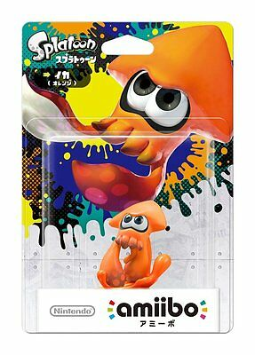 NEW Nintendo 3DS Wii U Amiibo Squid Orange Figure Splatoon Japan Import F/S