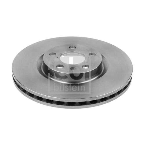 Genuine Febi 5 Stud Front Vented Coated Brake Discs 14075