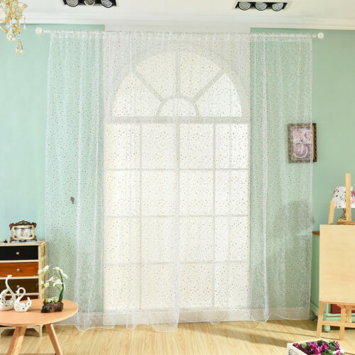100X200CM LOVELY DAISYS FLOWERS OFFSET PRINTING ROD POCKET BEDROOM CURTAIN SMART