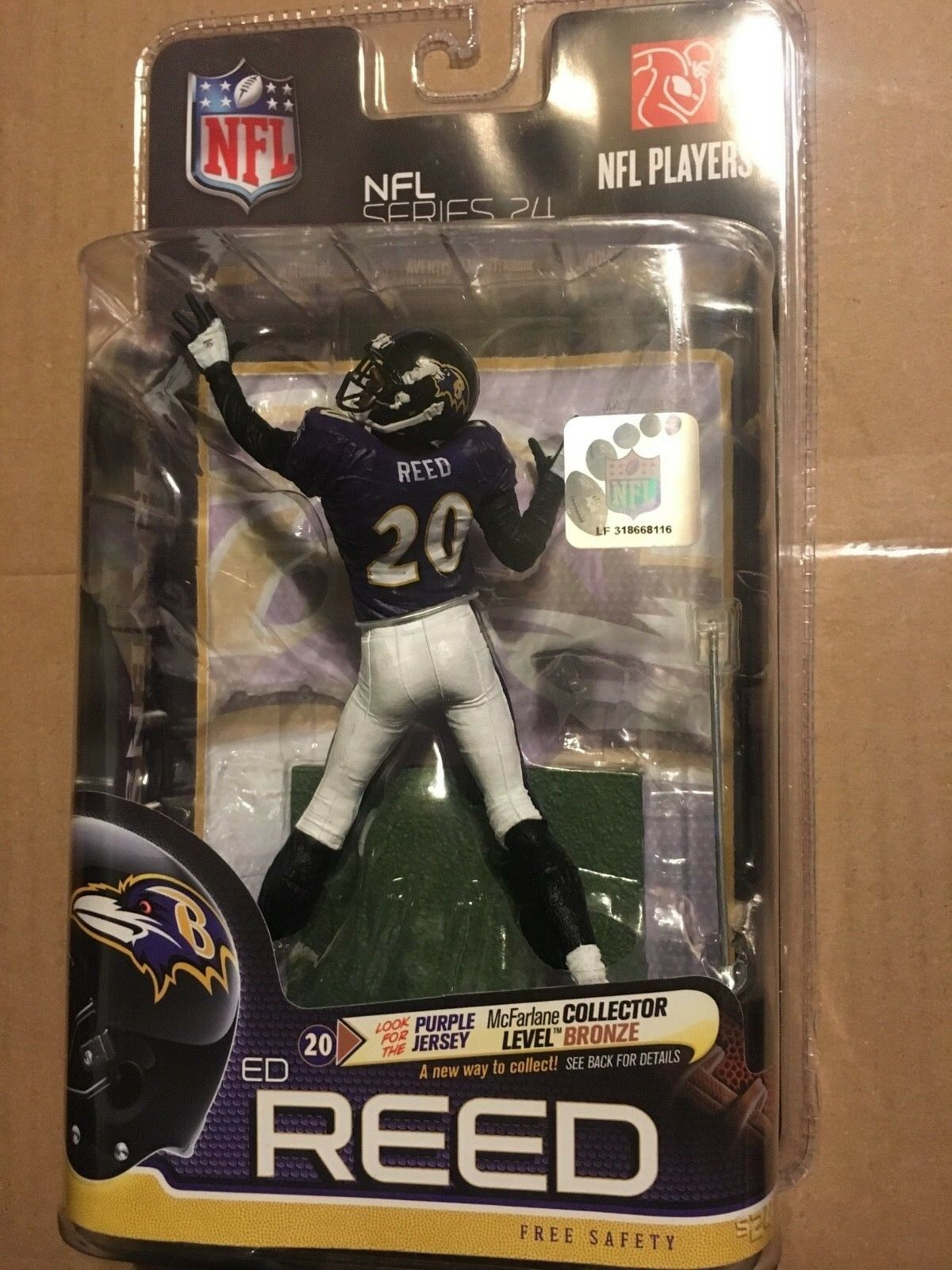 NFL Baltimore Ravens ed Reed McFarlane VARIANTE SERIE 24 cifra 405500