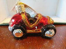 Small Race Car  Old World Christmas glass ornament