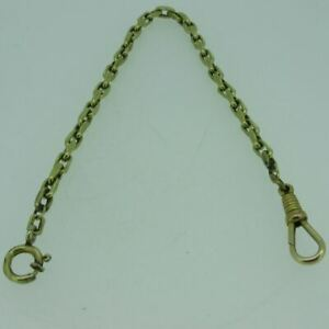Antique CAH Gold Filled Uniquely Linked Pocket Watch Chain