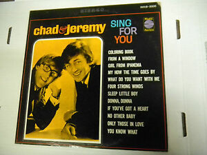 33RPM-Jazz-Vinyl-Chad-amp-Jeremy-SING-FOR-YOU-World-Artist-WAS3005-111612LAE
