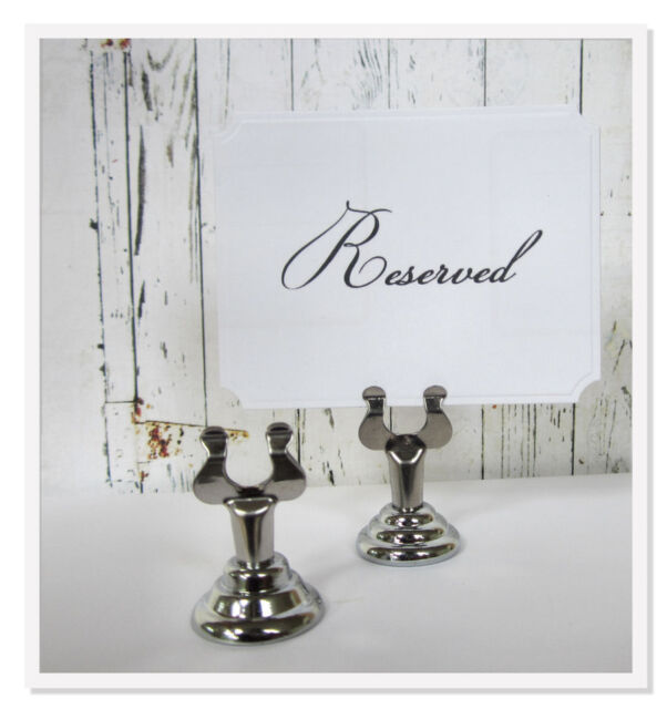 42 Silver Place Card Holder-Sign Holder-Table Number Holder, Wedding, Party
