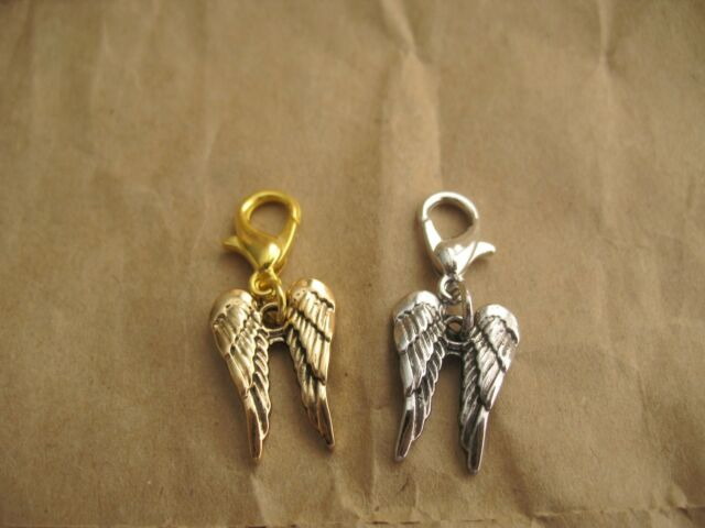 Lot of 5 pieces Alloy Dangle Charm Angel Wings for floating charm glass locket