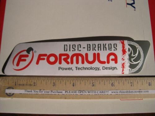 "8/"" FORMULA DISC  BRAKE Bike Mountain Road Tri Race  Frame Bicycle DECAL STICKER"