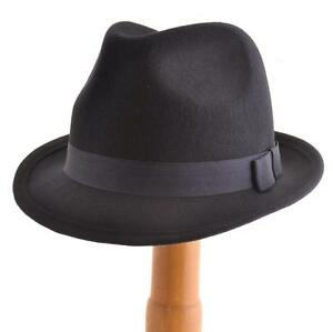 MENS GENTS VTG 40s 50s Style Felt Trilby Hat BNWT NEW 100% Wool ... be7fc330e1d