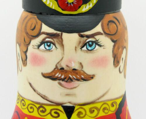 Russian 5 Matryoshka Nesting dolls Gussars Hussars Soldier Ladies Zenina signed