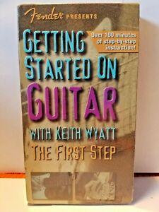 à Condition De Fender Presents Commencer Sur Guitare Keith Wyatt Les Premières étapes Vhs-afficher Le Titre D'origine