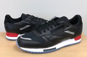 5f2a8be46c8e MENS REEBOK CLASSIC CL LEATHER RIPPLE LOW BP BS5218 Black White Red ...