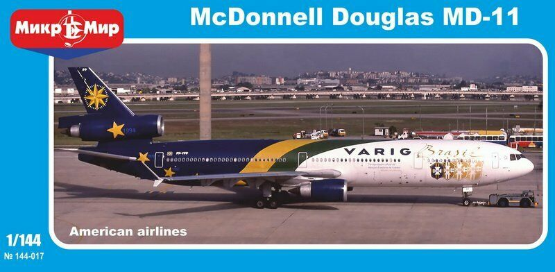 MikroMir 144-017 McDonnell MD-11-GE  American airlines   1 144 Scale Model Kit