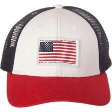 New The North Face USA Trucker Snap Back Hat, TNF White OSFM Merica
