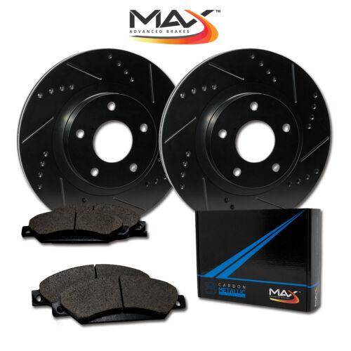 2007 2008 2009 2010 2011 Fit Lexus ES350 Black Slot Drill Rotors Metallic Pads F