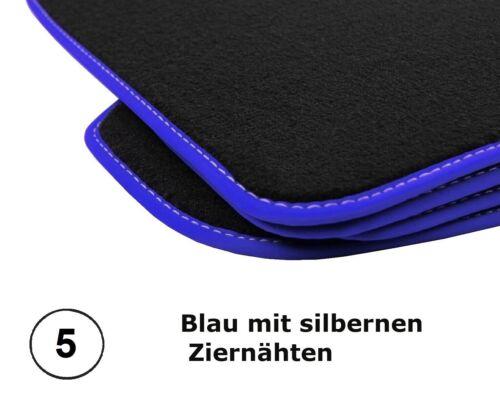 Fußmatten Audi A4 B7 Bj2004-08 Limousine Avant Premium Velours Anthrazit 4X Clip